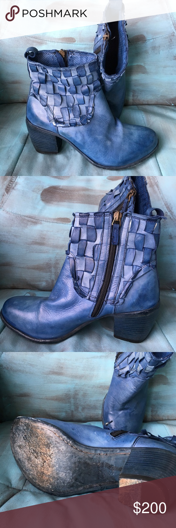 Gidigio BootiesShoes Beautiful Booties Blue Ankle y0wNOm8nv