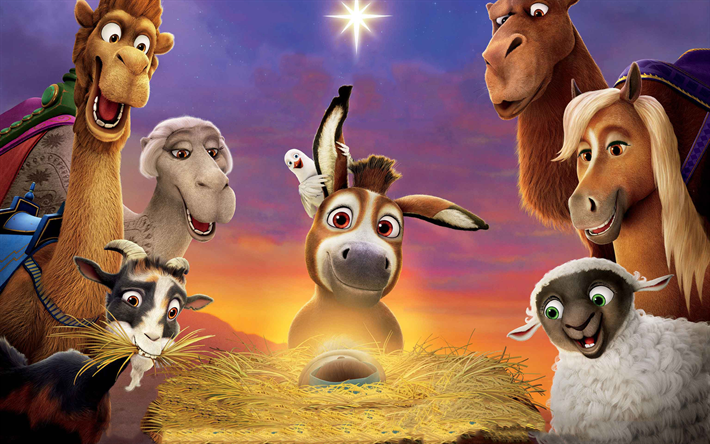 Download wallpapers The Star, 2017 movie, 3danimation