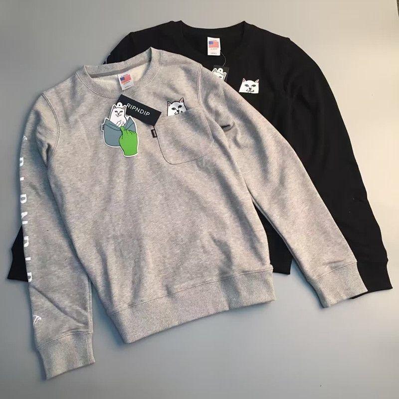 New men/'s women/'s hoodie Rip N Dip pocket cat long-sleeved hoodie hooded RIPNDIP