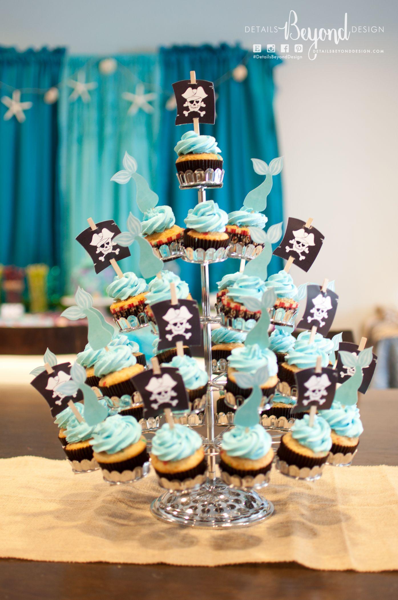Ethan Sophias Pirate and Mermaid Adventure at Sea Birthday