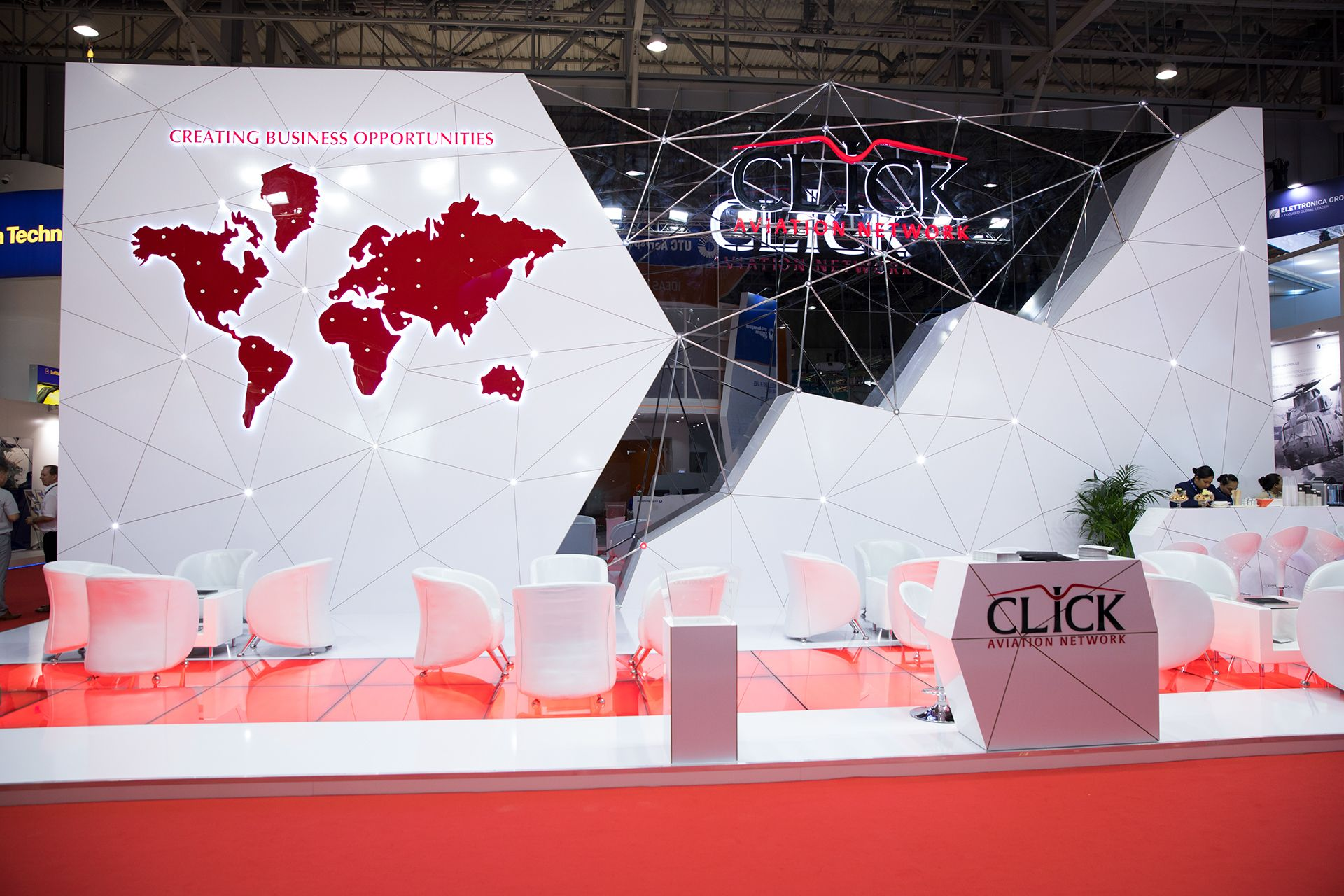 Dubai Airshow 2017 Click Aviation Exhibition Stand on