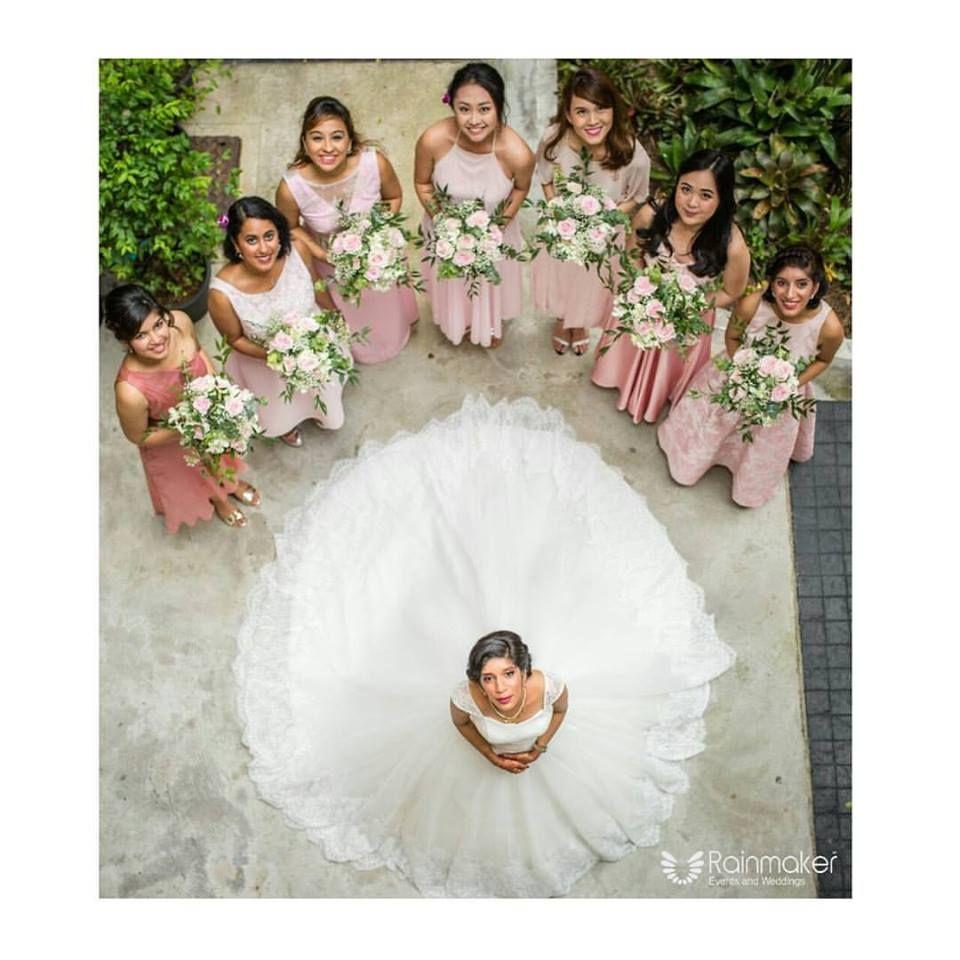 Authentic Kerala Wedding Debuts In Thailand   Indian bridesmaids ...