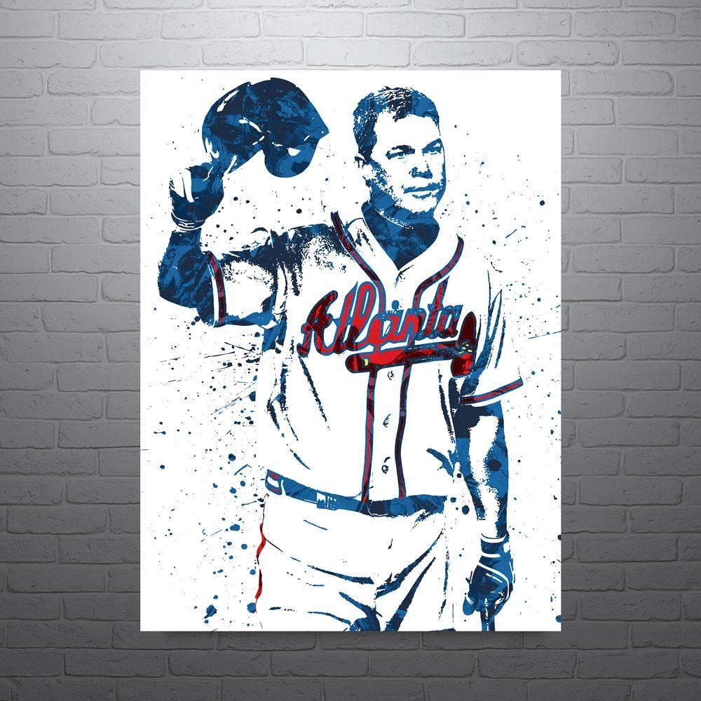 Chipper Jones Atlanta Braves Poster Chipper Jones Atlanta Braves Baseball Sports Art Print