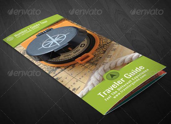 Traveler Guide Trifold Brochure | Brochure Design Templates ...