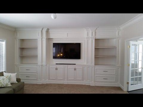 Custom Entertainment Center Built Ins - YouTube | Living room ...