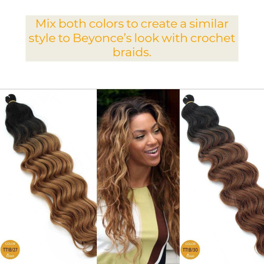 harlem125 kima synthetic crochet braiding hair ocean wave