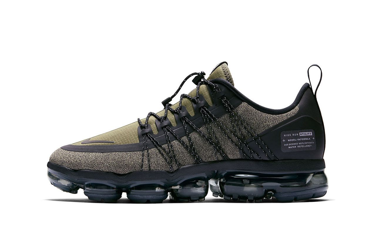 on sale 3aa41 2b114 Nike Vapormax Run Utility Olive Green Sneaker Details First Look Shoes  Trainers Kicks Sneakers Footwear Cop Purchase Buy Release Date Military  Utilitarian