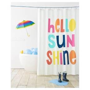 Hello Sunshine Shower Curtain White Pillowfort Kid Bathroom