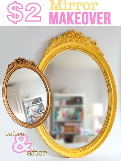 How-to make chalk paint using craft paint to keep the cost of making over a piece of furniture budget friendly. #Chalkpaint #Makechalkpaint #mirrormakeover #furnituremakeover