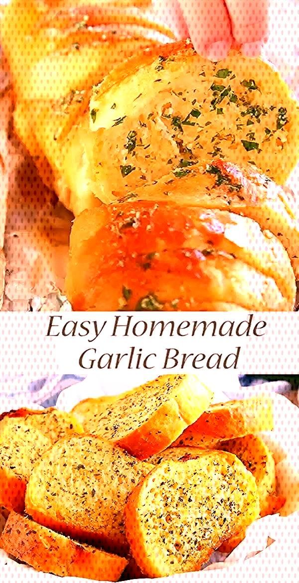 This Easy Homemade Garlic Bread belongs on every familys table! Its SO easy to make and its deli