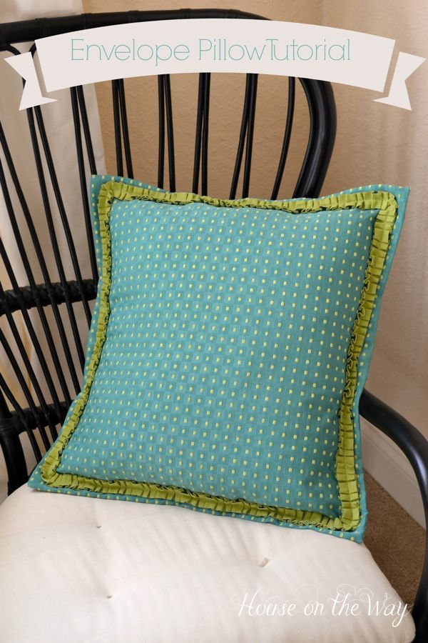 Envelope Pillow Shams Tutorial House On The Way Bloggers Best Cool Envelope Pillow Cover With Flange