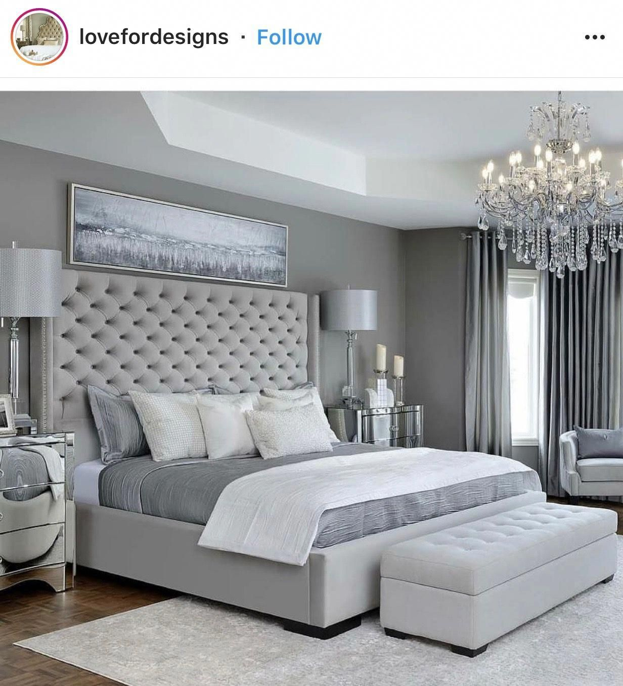 I Like How Neat And Tidy The Bed Is In This Shot Homeaccents Grey Bedroom Design Simple Bedroom Design Master Bedrooms Decor