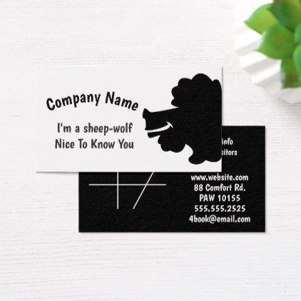 Black Sheep Wolf Business Card Black sheep