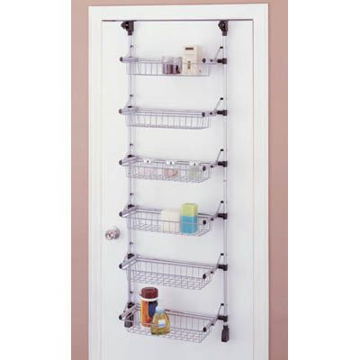 over the door storage rack | Neu Home Over-the-Door 6-Basket - Over The Door Storage Rack Neu Home Over-the-Door 6-Basket Wire