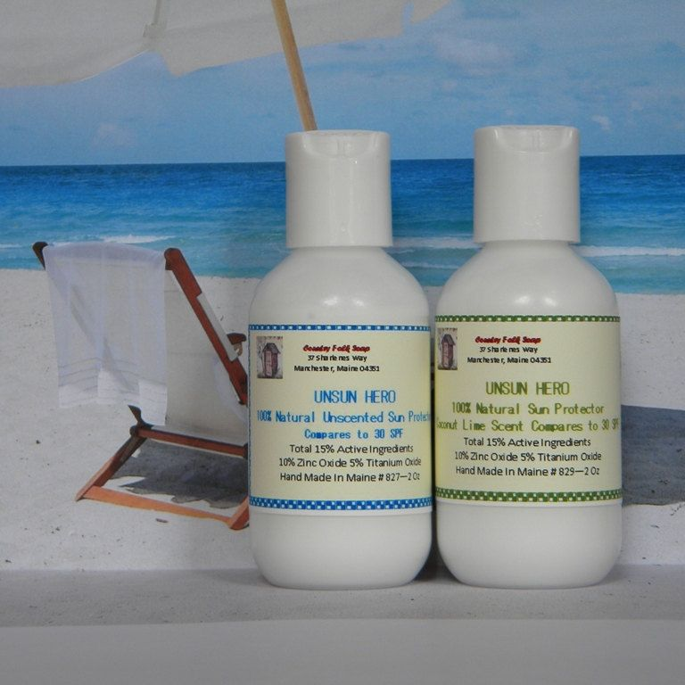 UNSUN HERO Sunscreen All Natural 30 SPF Travel Size 2 Oz  $5 00, via