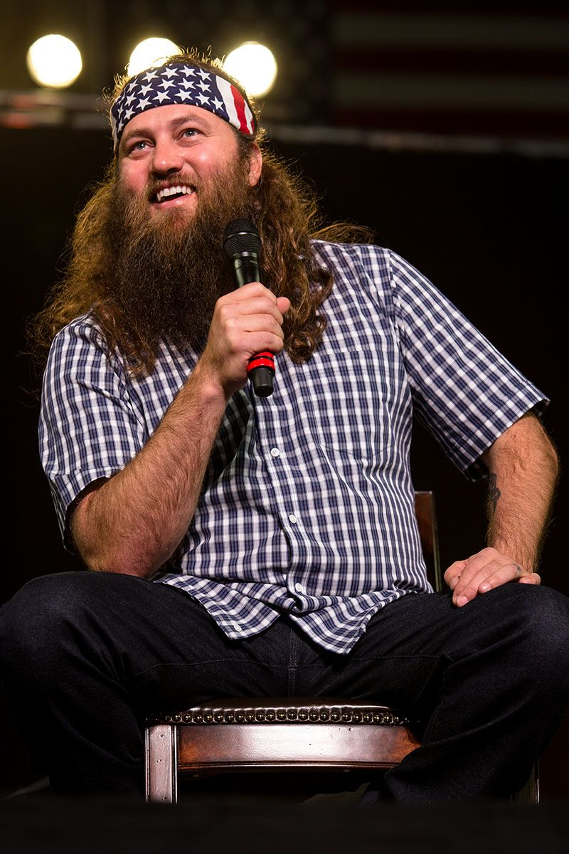 """Willie Robertson, star of the A reality show """"Duck Dynasty,"""" enlightens listeners during Wildfire Weekend for Men.    Courtesy of Tim Gosnell"""