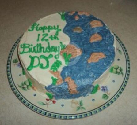 River birthday cake