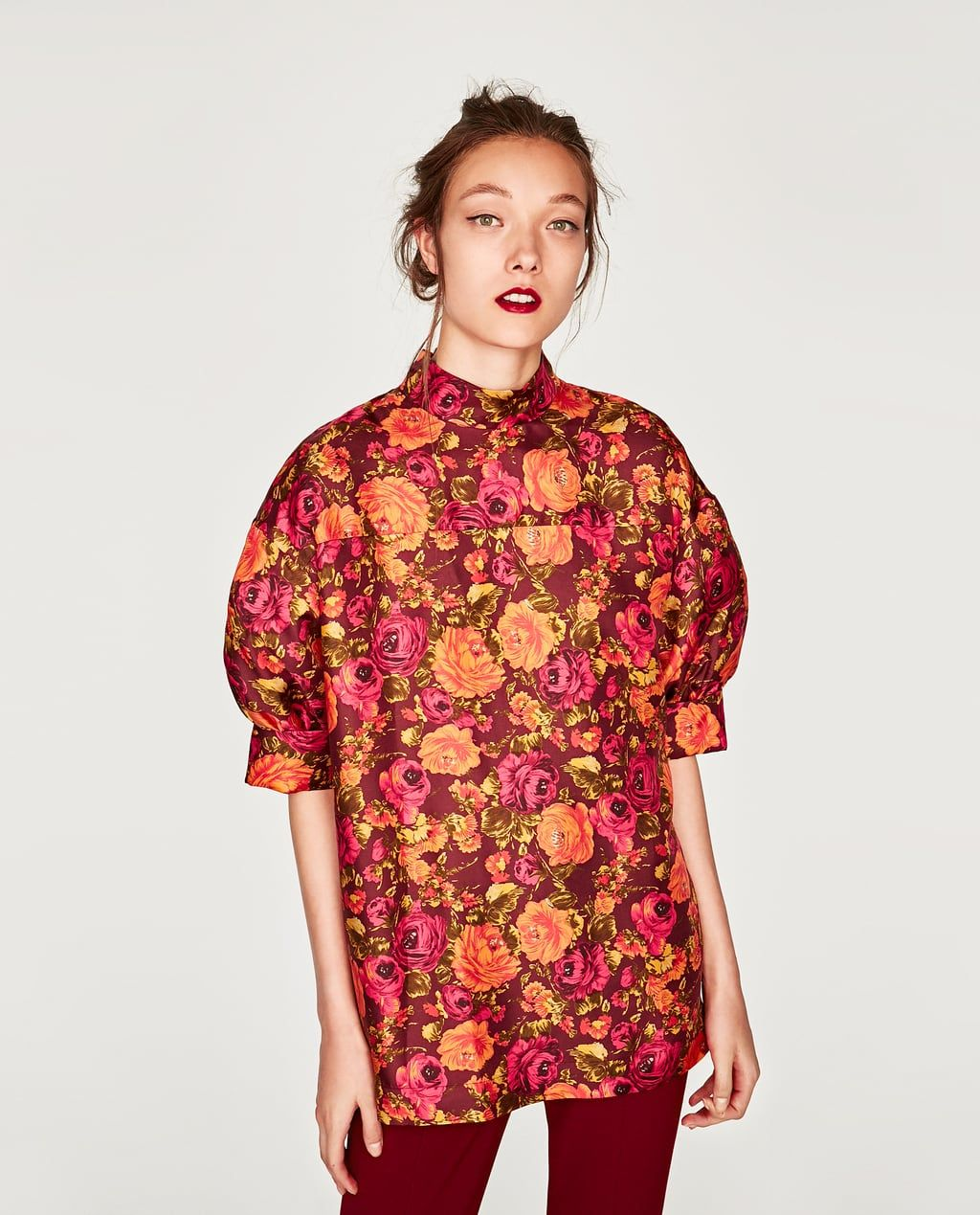 fff99f2fce280 SILK SHIRT WITH VOLUMINOUS SLEEVES-STARTING FROM 50% OFF-WOMAN-SALE ...