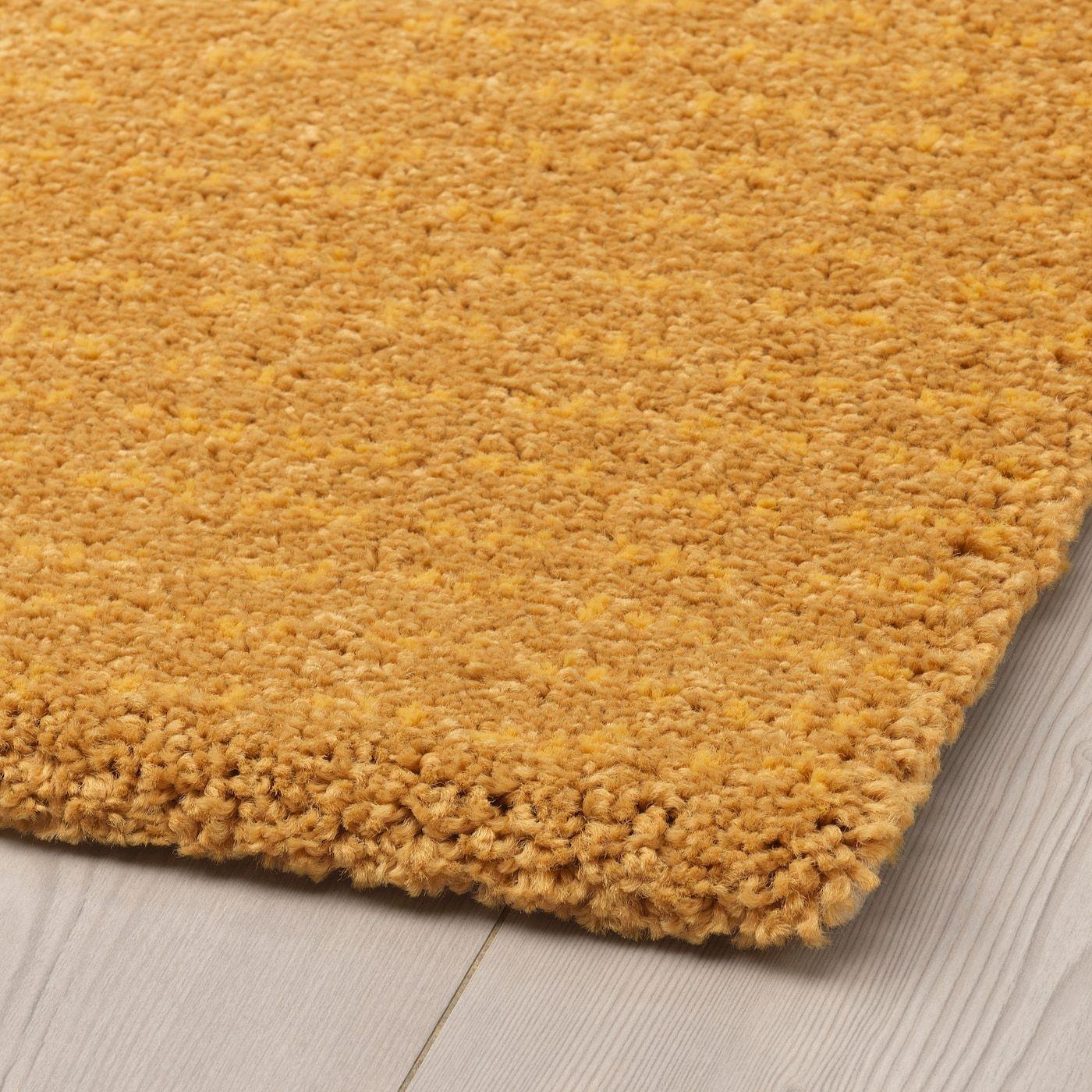 Langsted Tapis A Poils Ras Jaune 4 4 X6 5 133x195 Cm In 2020 Teppich Teppich Gelb Teppichreinigung
