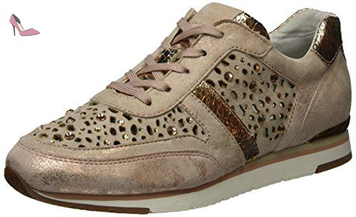 Gabor Shoes Fashion_64.323 - Sneakers Basses - Femme - Beige (Rame/Skin Strass) - 42 EU