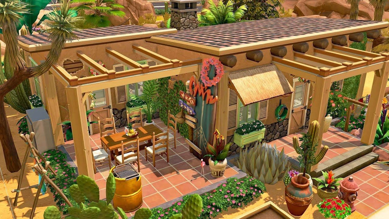 Mexican Style🌴😎Tiny House The Sims 4 Speed Build