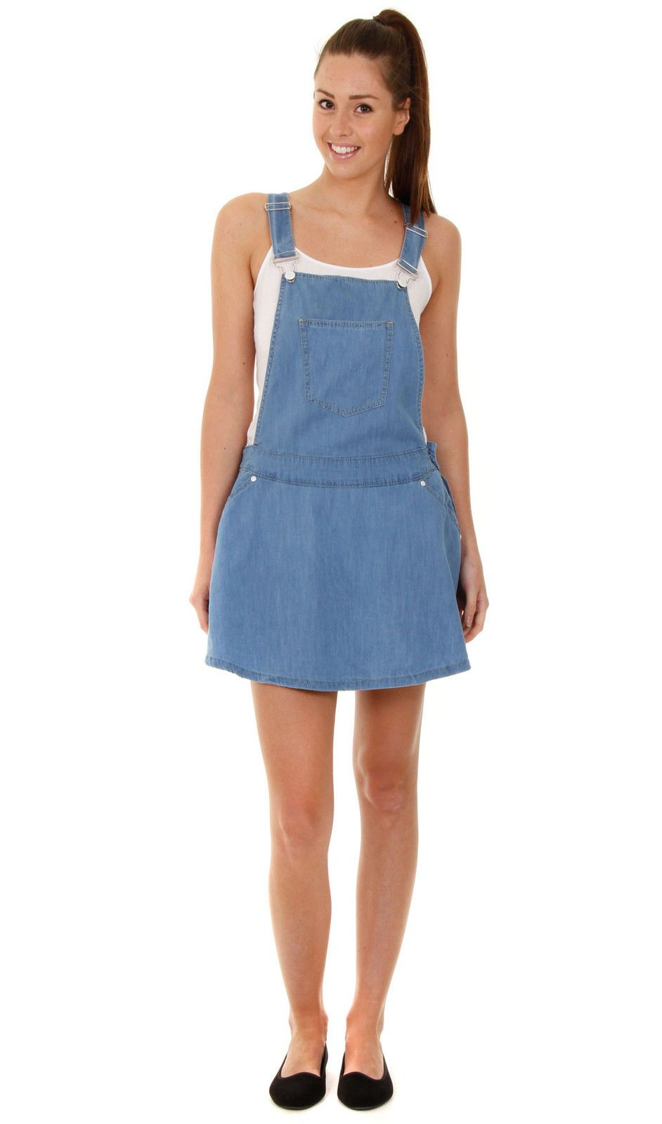 83bba55d2b Bib Overall Dress - Faded Denim