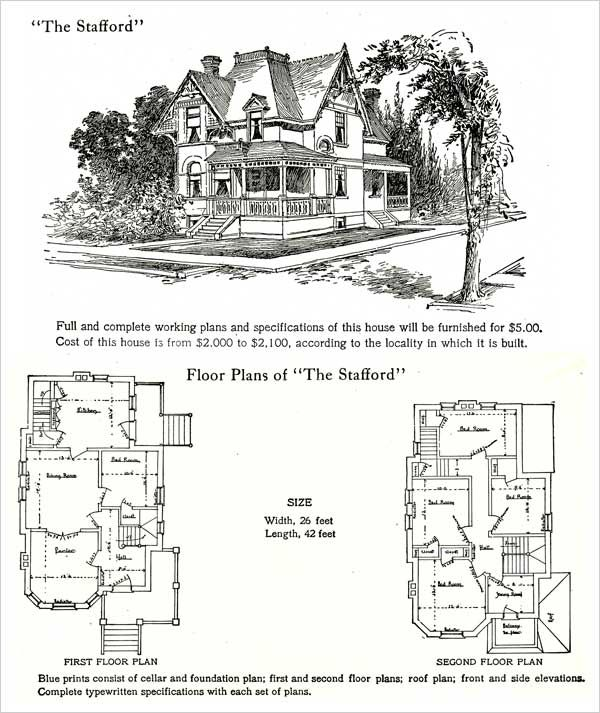 Queen Anne Style Hodgson House Plans 1905 Stafford Shed House Plans Victorian House Plans Floor Plans