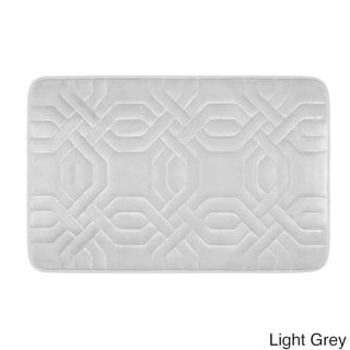 Chain Ring Memory Foam 17 X 24 Inch Bath Mat With Bouncecomfort