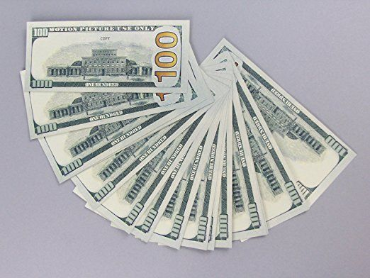 PROP MONEY Real Looking New Style Copy 100s FULL PRINT Stack