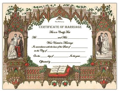 Old Fashioned Marriage Certificate Template BeAuTiFuL EpHeMeRa - marriage certificate template