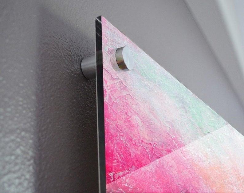 Art On Plexiglas Acrylic Glass Print High Gloss Print Large Etsy Acrylic Prints Large Abstract Pink Art