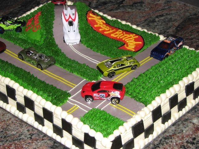Hotwheels Styled Race Car Birthday Cake Birthday Cakes