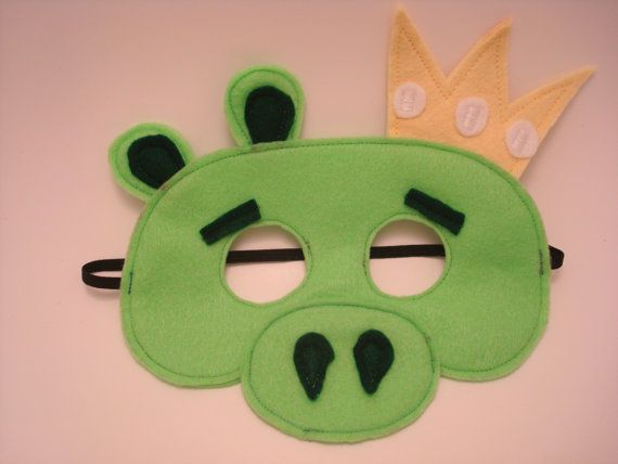 Angry birds felt green king pig mask by bizzielizzieboutique angry birds felt green king pig mask by bizzielizzieboutique 1200 pronofoot35fo Images