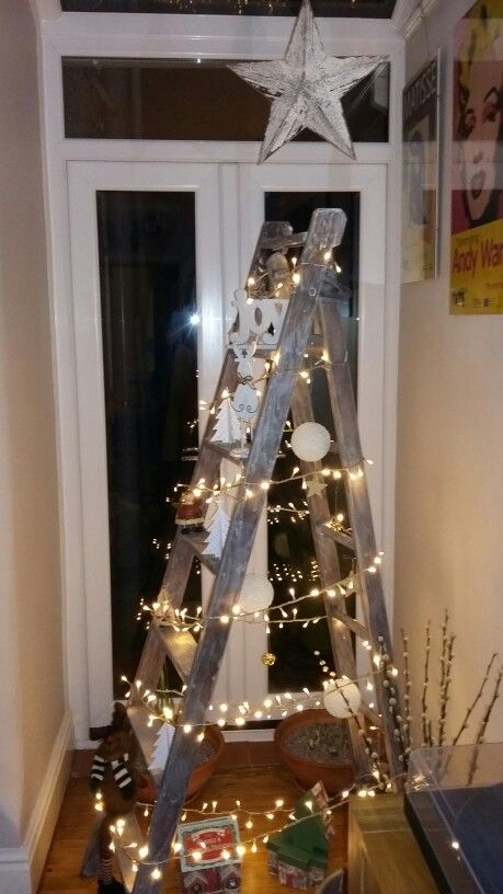 skip find step ladder christmas tree - Christmas Ladder Decor