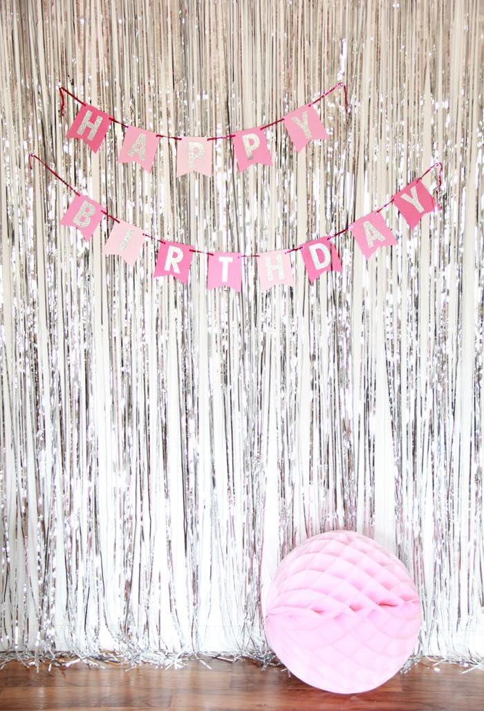 sparkle like a unicorn themed birthday party party backdrop