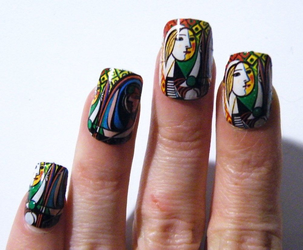 Mani Pedi Abstract Woman Picasso Nail Polish Art Nails Art History ...