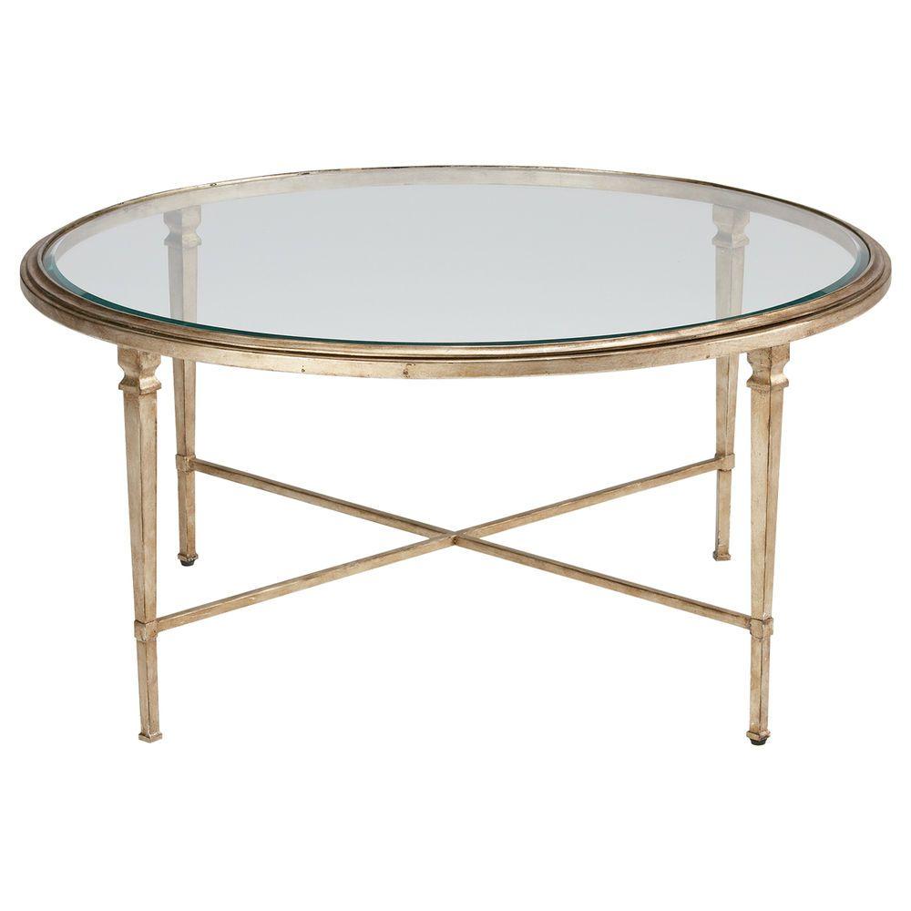 Ethan Allen Rectangular Coffee Tables: Round Heron Coffee Table