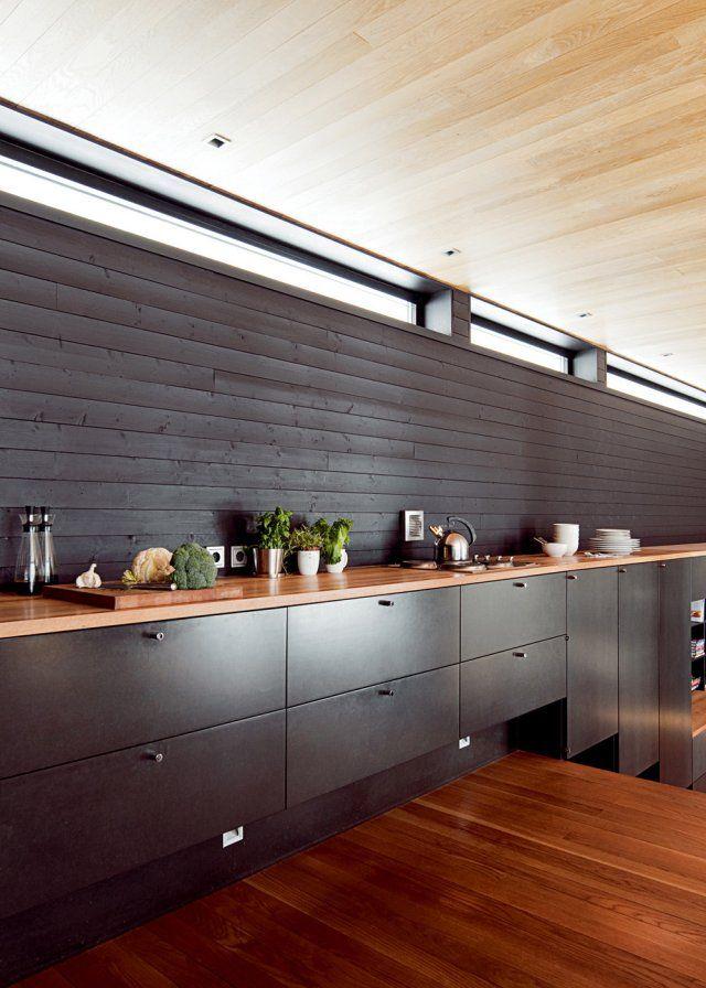 20 inspirations pour une cuisine noire et blanche More (Modern