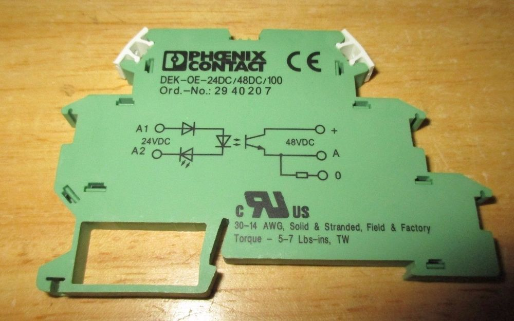 New phoenix contact solid state relay terminal block dekoe24dc