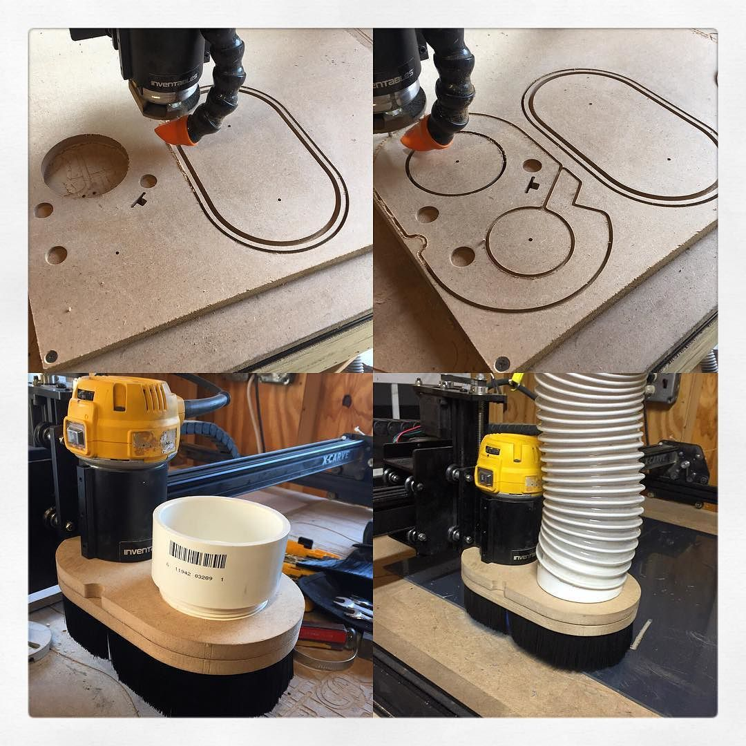 made a dust boot today for the cnc to hep keep down on dust in the shop so far so good the mdf. Black Bedroom Furniture Sets. Home Design Ideas