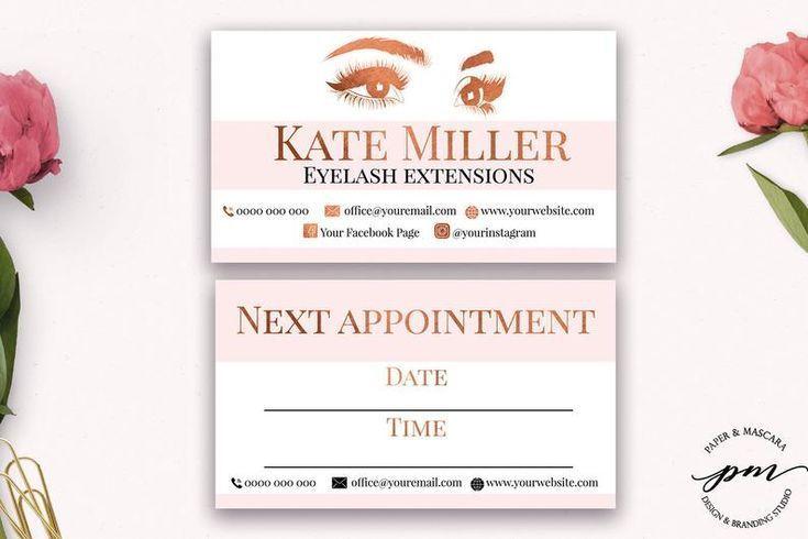 Eyelash extensions technician branding bundle salon