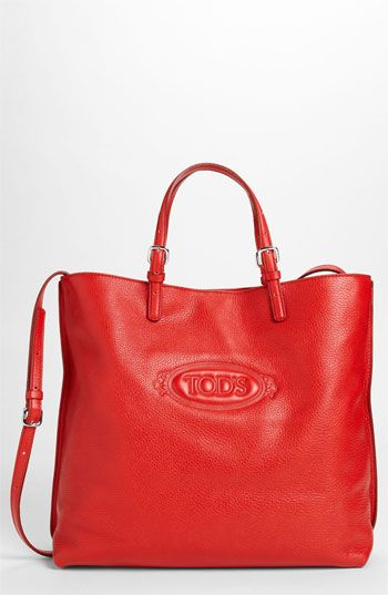 Tod's 'Logo Media' Leather Shopper available at #Nordstrom
