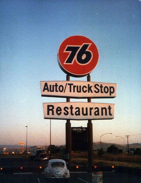 Truck Stop Trucks Old Gas Stations Big Trucks