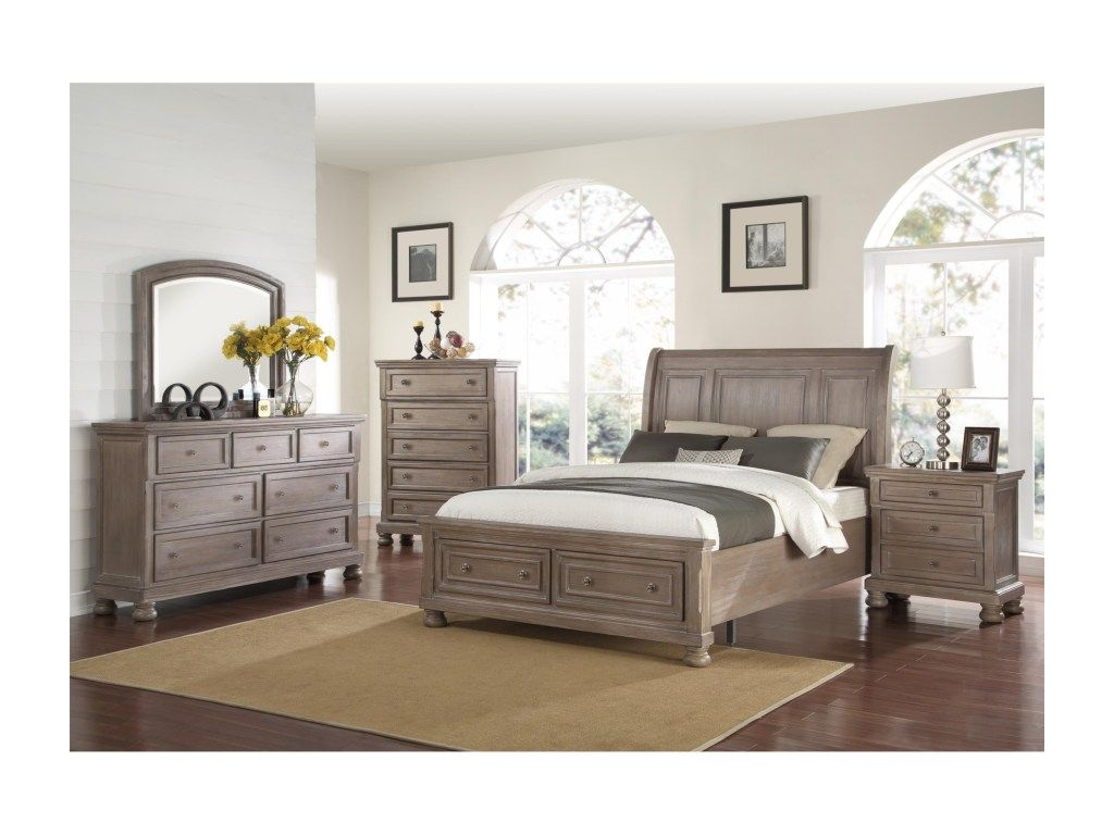 New Classic Allegra 3 Piece Bedroom Set Includes King Bed, Dresser ...