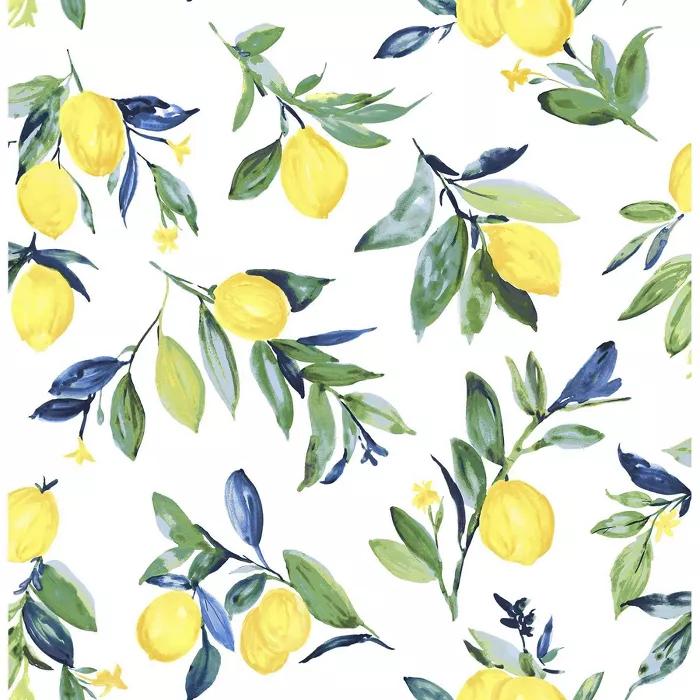 NuWallpaper Lemon Drop Peel and Stick Wallpaper Yellow in ...