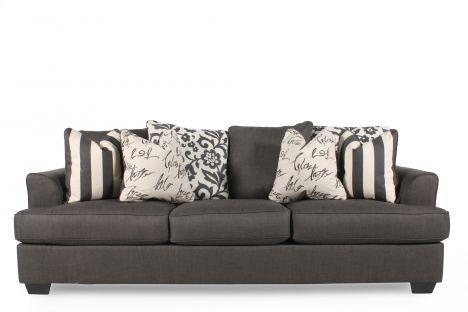 Ash C 7340339 Ashley Levon Charcoal Queen Sleeper Sofa Mathis