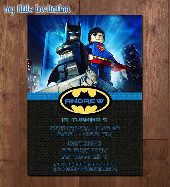Lego Batman And Superman Superhero Birthday By