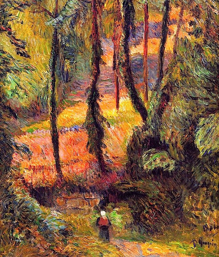 Wooded path, 1884 - Paul Gauguin