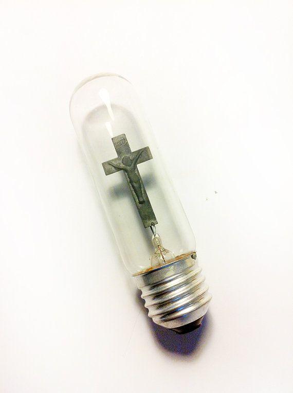 Unique Light Bulbs christian church cross decorative neon candle light bulb 220v