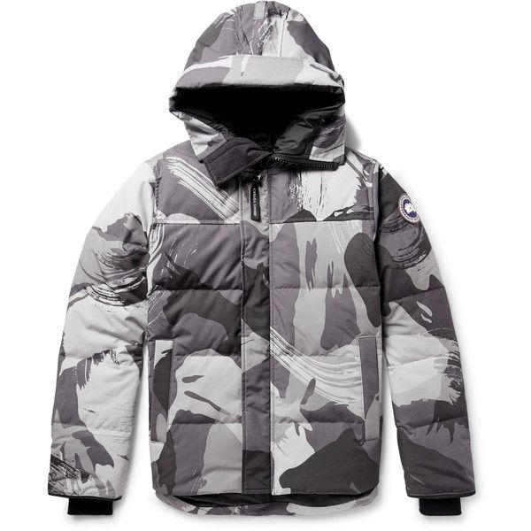 Macmillan Camouflage Print Quilted Shell Down Jacket